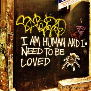 I am human and I need to be loved
